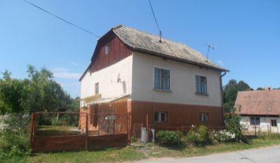 SKLENÉ 4 izbový rodinný dom s veľkým slnečným pozemkom 2178m2, okr.Turčianske Teplice
