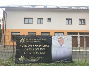 Nové nadštandardné 2 - izbové byty na predaj v lukratívnej časti mesta Poprad!!!