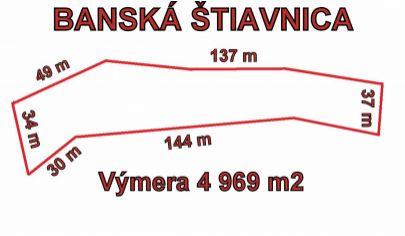 BANSKÁ ŠTIAVNICA  pozemok pre priemyselnú výstavbu 4969m2