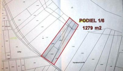 ZÁZRIVÁ časť Dolina, pozemky vo výmere 1279 m2, okr. Dolný Kubín