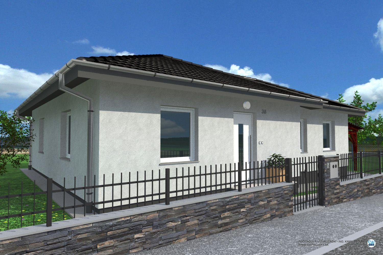 Areté real, Predaj novostavby 4-izbových rodinných domov v krásnom, tichom prostredí s krásnym výhľadom v obci Štefanová