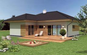 Ponúkame Vám na predaj novostavbu 4-izbový bungalov na pozemku 778 m2 s IS a podielom na ceste, Slávnica.