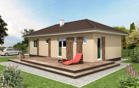 Ponúkame Vám na predaj novostavbu 4-izbový bungalov na pozemku 600 m2 s IS a podielom na ceste, Slávnica.