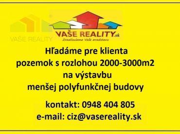 Kúpa pozemku 2000-3000m2 v Bratislave