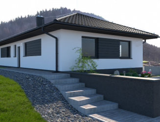 Novostavba 4 iz. rodinného domu v Sklabini (Martin), pozemok 1 490 m2