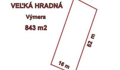 VEĽKÁ HRADNÁ stavebný pozemok 843 m2, okr. Trenčín