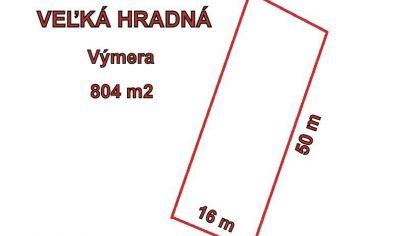 VEĽKÁ HRADNÁ pozemok výmera 804 m2, okr. Trenčín
