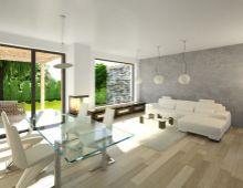 Ponúkame na predaj nízkoenergetické výborne dispozične riešené 4 izbové dvojpodlažné rodinné domy vo výbornej lokalite v centre obce Kráľová pri Senci, obytná plocha 123 m2, Poštová ulica. Dokončenie