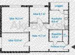 3 izb. byt, Trávniky, balkón