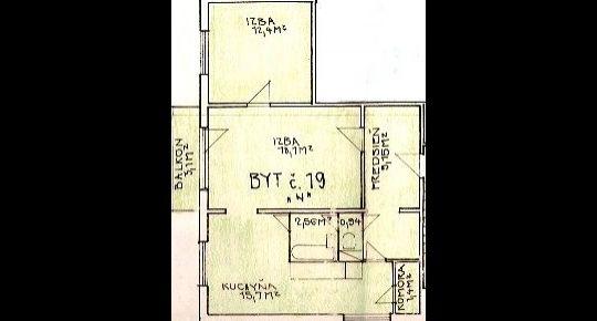 Predaj, veľký 2 izbový byt s balkónom, s pekným výhľadom, Lipovec