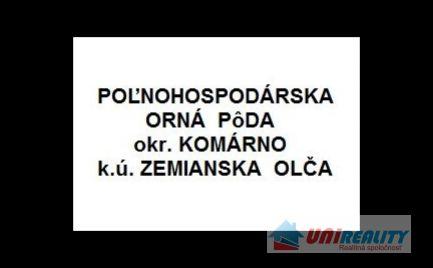 KOMÁRNO – obec ZEMIANSKA OLČA / orná pôda o výmere 32.475 m2