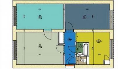 TOPOĽČANY - 3 izbový byt, prízemie, 66m2, pôvodný stav.