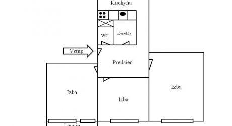 Predaj 3 izbového bytu s loggiou, Zvolen-Západ