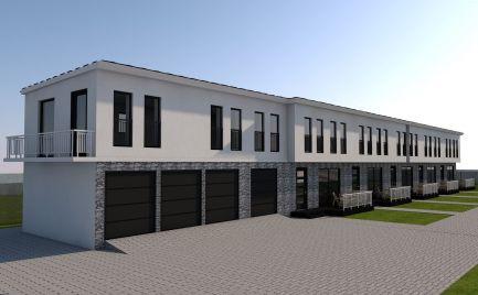 Nová výstavba mezonetových  bytov so záhradkou v radovej zástavbe v obci Čakany za skvelú cenu 99.900,-€ !!!