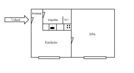 Predaj 1 izbového bytu, Zvolen-Podborová