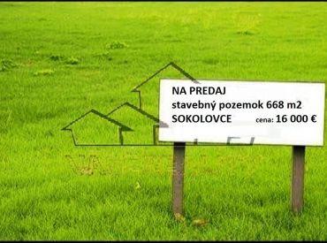 REZERVOVANÉ - stavebný pozemok 668 m2, SOKOLOVCE
