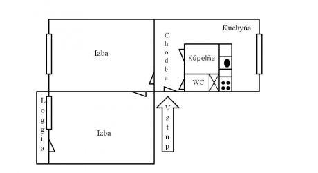 Predaj 2 izbového bytu s loggiou, Zvolen-Západ