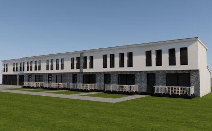 Nová výstavba mezonetových  bytov so záhradkou v radovej zástavbe v obci Čakany za super cenu 99.900,-€ !!!