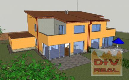 Predaj: 5 izbový rodinný dom, Chorvátsky Grob, lokalita Čerešňové, uzatvorená hrubá stavba, polovica dvojdomu, možnosť kúpiť oba domy