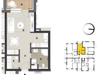 Na predaj 1 izbový byt v novostavbe, Martin - Priekopa