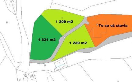Pozemky pre rekreačné domy , 10 km od Banskej Bystrice cena  50 500 €
