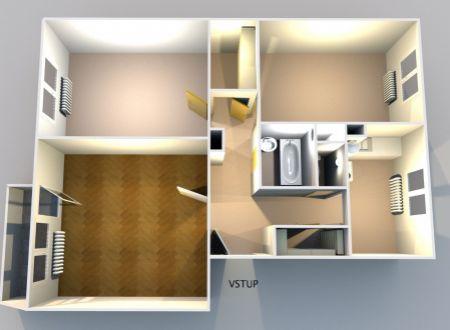 Veľký 3-izbový byt s garážou a balkónom