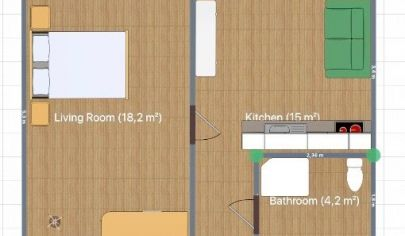 REZERVOVANÉ: 1 izbový byt, VENEVSKÁ, Veľký Krtíš