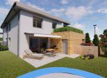 Ponúkame Vám na predaj moderné bývanie v Lozorne - novostavba, 4 izby, garáž, terasa a záhrada.