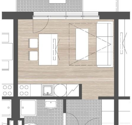 StarBrokers - PREDAJ - 1- izb. byt s balkónom, novostavba, Rača, ul. Na pasekách, parkovacie státie