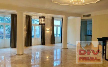 Prenájom: 3 izbový byt, Hlboká cesta, Palisády, Bratislava I, Staré Mesto,  147,39 m2, nezariadený, parkovacie státie, bývanie v luxusnej rezidencii pre náročných