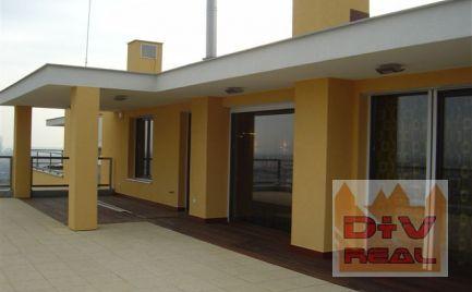 Prenájom: 3 izbový byt, Koliba, Bratislava III, Nové mesto, zariadený, terasa 145m2, dve kúpeľne, garáž pre dve autá