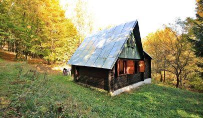 Romantická drevená chata (50m2) v lese, pri Štefánikovom prameni / Kysak - len 15 km od KE