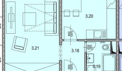 MARTIN SEVER 1 izbový byt 31m2 s balkónom, SEVERAN