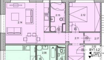 MARTIN SEVER 2 izbový byt 47m2, SEVERAN