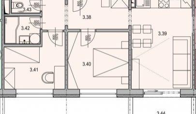 MARTIN SEVER 3 izbový byt 52m2 s balkónom, SEVERAN