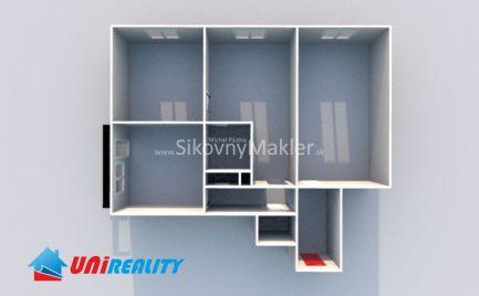 BÁNOVCE NAD BEBRAVOU- 3 izbový byt / SEVER / rekonštrukcia / IBA U NÁS !!!