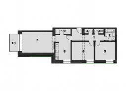 Nový, moderný trojizbový byt v centre s nonstop recepciou a strážnou službou