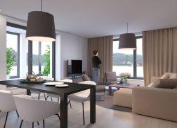 Nový, jednoizbový apartmán v centre mesta s vyhradeným parkovaním a strážnou službou