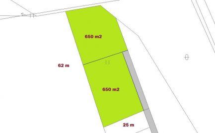 Stavebné pozemky 704 m2,  Horná Mičiná, pri B. Bystrici, so stavebným povolením - výborná cena – 43 000 €