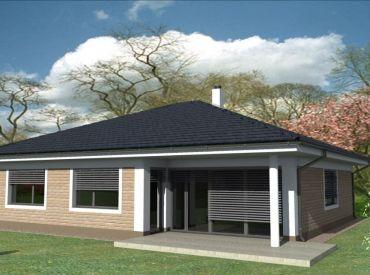 JJ Reality - POSLEDNY 5 izb. rodinný dom - bungalov s garážou / ZVONČIN / novostavba s garážou