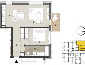 Na predaj 2 izbový byt v novostavbe, Martin - Priekopa