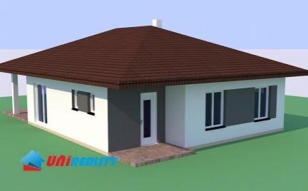 Obec SVINNÁ - novostavba BUNGALOV na predaj - 4 izby s terasou na pozemku o výmere 533 m2