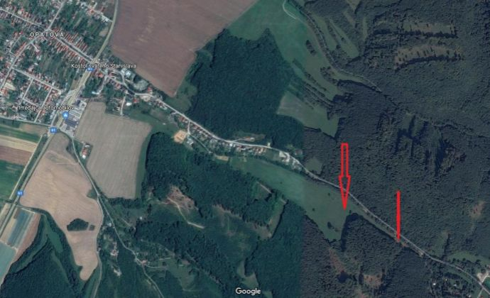 Na predaj rekreačný pozemok v Trenčíne, časť Opatová