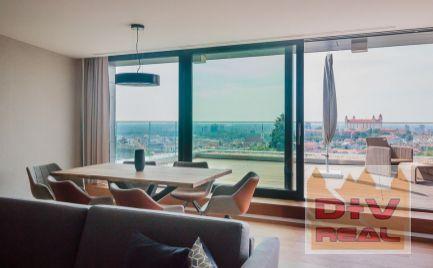Prenájom: 3 izbový byt, Na štyridsiatku, nádherný výhľad, moderne zariadený, novostavba, veľká terasa, parkovanie