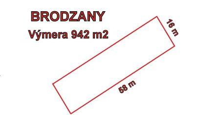 BRODZANY stavebný pozemok 942m2, okr.Partizánske