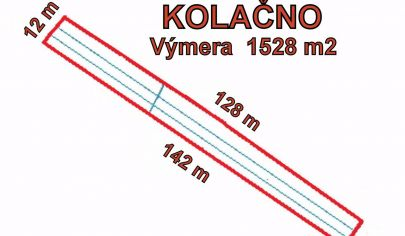 KOLAČNO  stavebný pozemok výmera 1528 m2, okr. Partizánske
