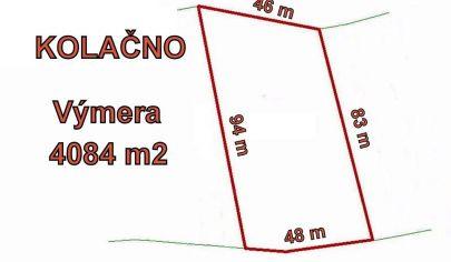 KOLAČNO  pozemok s výmerou 4084 m2, pri lese, okr. Partizánske