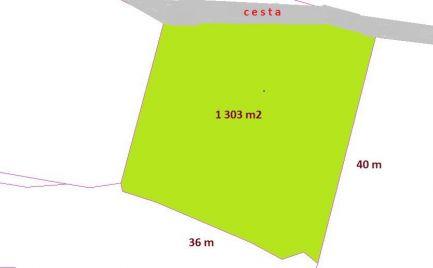 Zľava - Pozemok 1 303 m2 na stavbu chalupy, RD, Banská Bystrica – 26 000€