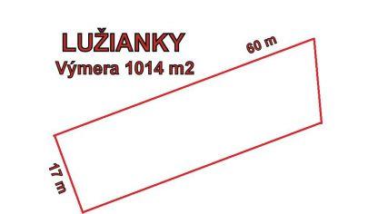 LUŽIANKY stavebný pozemok 1014m2, okr. Nitra