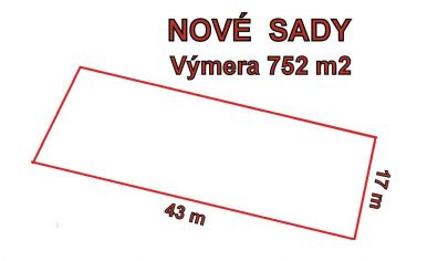 NOVÉ SADY stavebný pozemok 752m2, ok. Nitra